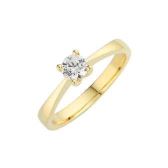 Petite Solitaire Engagement Ring BK-001