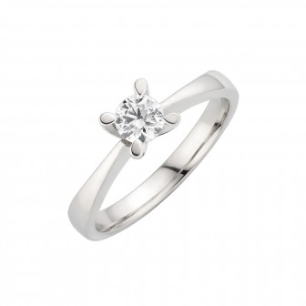 Knife Edge Pointed Four Claw Solitaire Engagement Ring BK-003